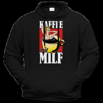 Motiv: Hoodie Premium FAIR WEAR - Kaffee mit MILF