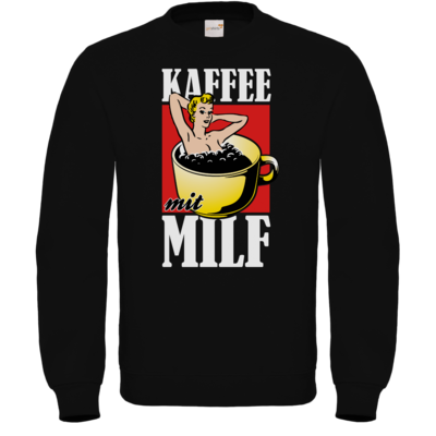 Motiv: Sweatshirt FAIR WEAR - Kaffee mit MILF