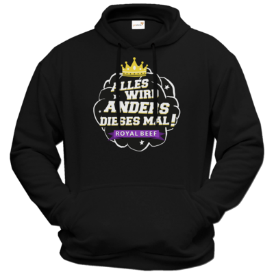 Motiv: Hoodie Premium FAIR WEAR - Royal Beef - Alles wird anders...