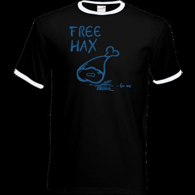 Motiv: T-Shirt Ringer - Free Hax blau