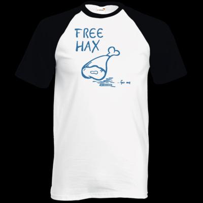 Motiv: TShirt Baseball - Free Hax blau
