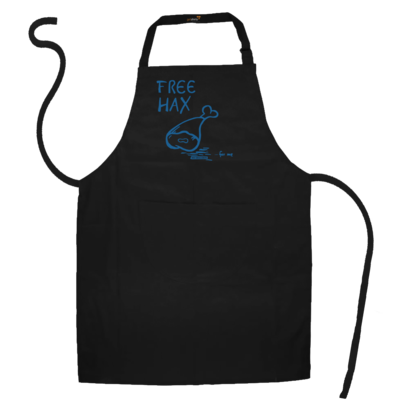 Motiv: Schürze - Free Hax blau