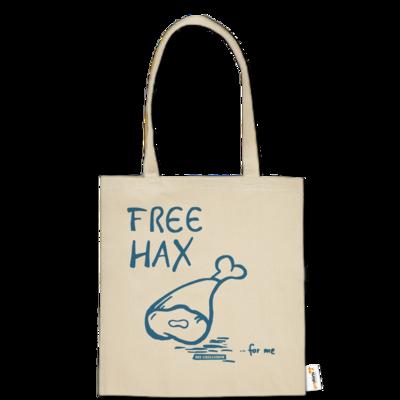 Motiv: Baumwolltasche - Free Hax blau