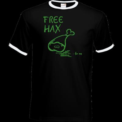Motiv: T-Shirt Ringer - Free Hax gruen