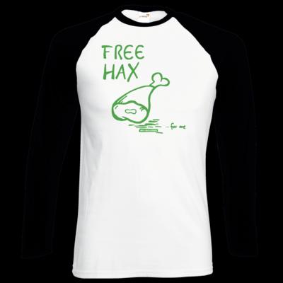 Motiv: Longsleeve Baseball T - Free Hax gruen