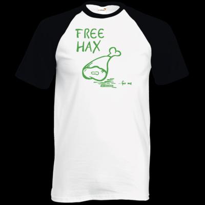 Motiv: TShirt Baseball - Free Hax gruen