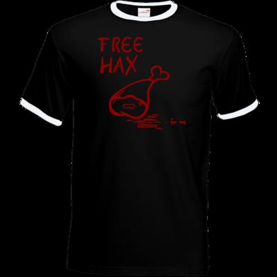 Motiv: T-Shirt Ringer - Free Hax rot