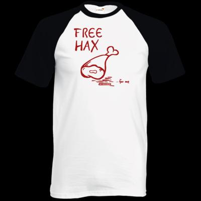 Motiv: TShirt Baseball - Free Hax rot