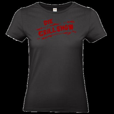 Motiv: T-Shirt Damen Premium FAIR WEAR - Die Grillshow - Logo rot