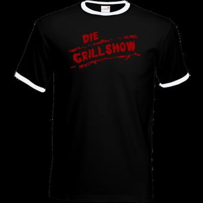 Motiv: T-Shirt Ringer - Die Grillshow - Logo rot