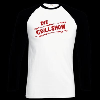 Motiv: Longsleeve Baseball T - Die Grillshow - Logo rot