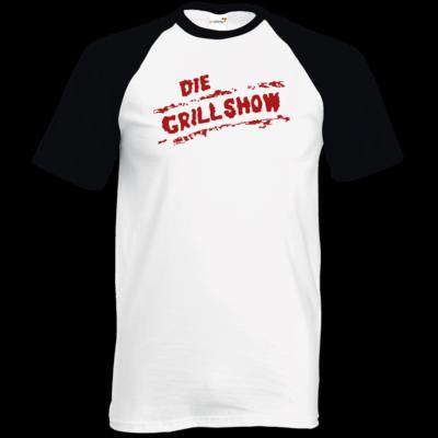 Motiv: TShirt Baseball - Die Grillshow - Logo rot