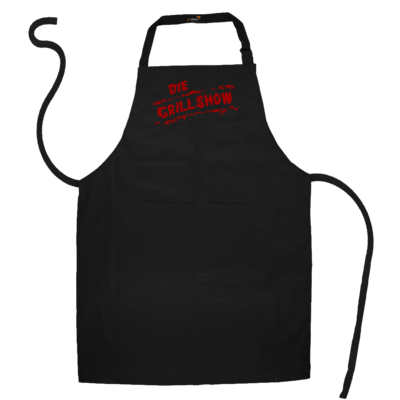 Motiv: Schürze - Die Grillshow - Logo rot