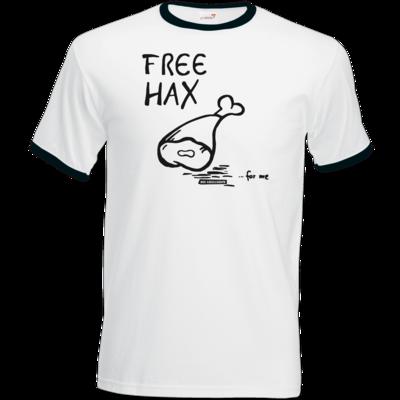 Motiv: T-Shirt Ringer - Free Hax schwarz