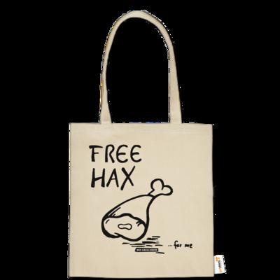 Motiv: Baumwolltasche - Free Hax schwarz