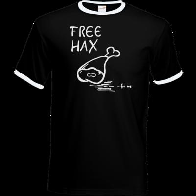 Motiv: T-Shirt Ringer - Free Hax weiss