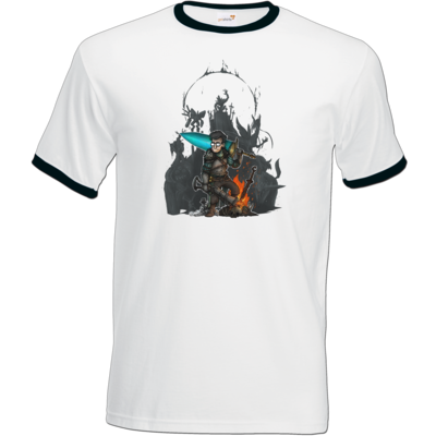 Motiv: T-Shirt Ringer - HookedTom