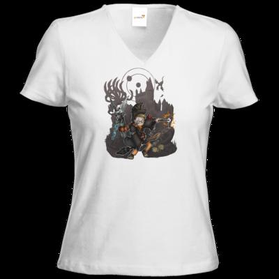 Motiv: T-Shirt Damen V-Neck Classic - HookedRobin