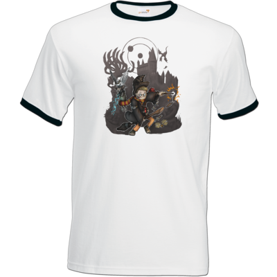 Motiv: T-Shirt Ringer - HookedRobin