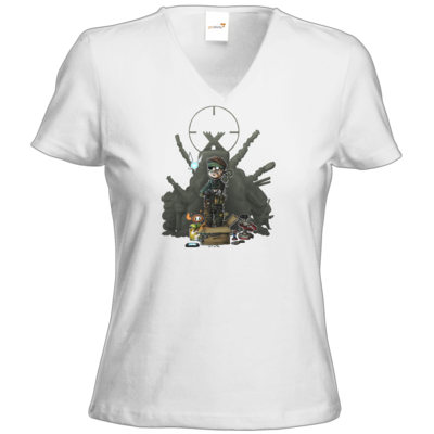 Motiv: T-Shirt Damen V-Neck Classic - HookedMats