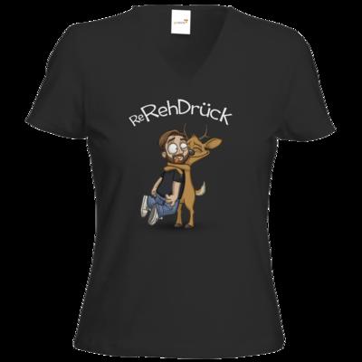 Motiv: T-Shirt Damen V-Neck Classic - ReRehDrueck