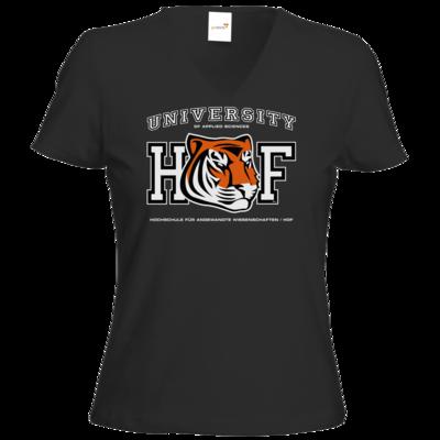 Motiv: T-Shirt Damen V-Neck Classic - CampusStore - Tiger