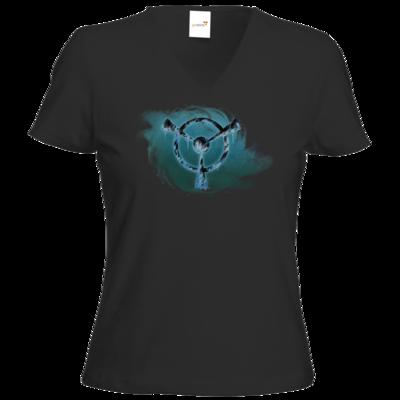 Motiv: T-Shirt Damen V-Neck Classic - Götter und Dämonen - Namenloser Frost