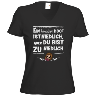 Motiv: T-Shirt Damen V-Neck Classic - zu niedlich