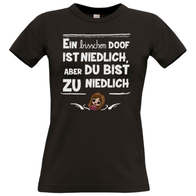 Motiv: T-Shirt Damen Premium FAIR WEAR - zu niedlich