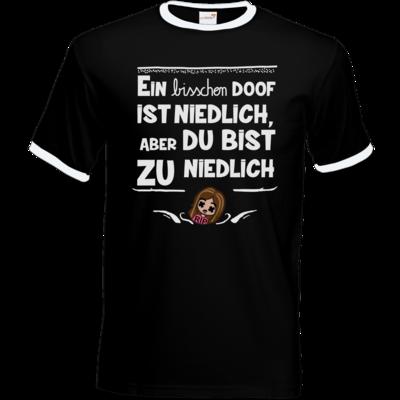 Motiv: T-Shirt Ringer - zu niedlich