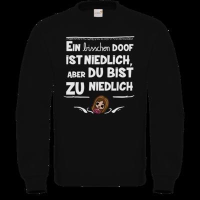 Motiv: Sweatshirt FAIR WEAR - zu niedlich