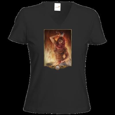 Motiv: T-Shirt Damen V-Neck Classic - Götter - Ingerimm