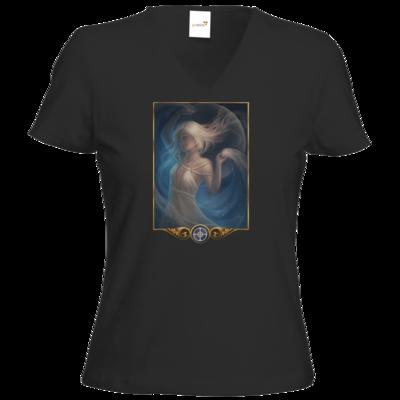 Motiv: T-Shirt Damen V-Neck Classic - Götter - Mada