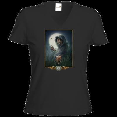 Motiv: T-Shirt Damen V-Neck Classic - Götter - Phex