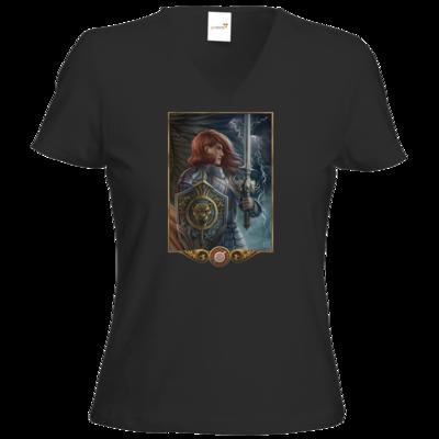 Motiv: T-Shirt Damen V-Neck Classic - Götter - Rondra