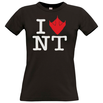 Motiv: T-Shirt Damen Premium FAIR WEAR - I Love NT Cube 2.0