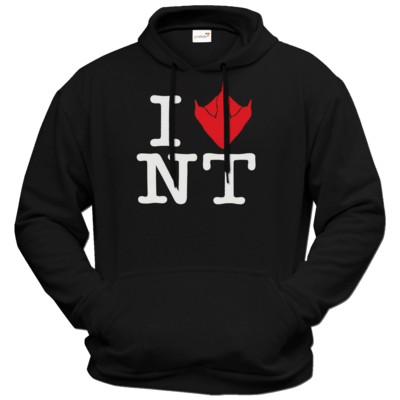 Motiv: Hoodie Premium FAIR WEAR - I Love NT Cube 2.0