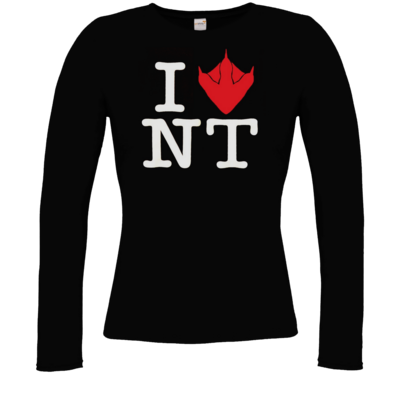 Motiv: Longsleeve Damen FAIR WEAR - I Love NT Cube 2.0