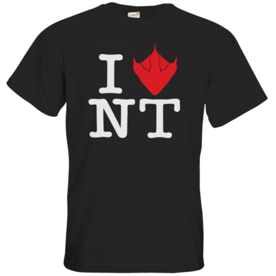 Motiv: T-Shirt Premium FAIR WEAR - I Love NT Cube 2.0