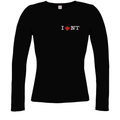 Motiv: Longsleeve Damen FAIR WEAR - I Love NT 2.0