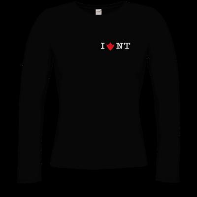 Motiv: Longsleeve Damen FAIR WEAR - I Love NT 2.0