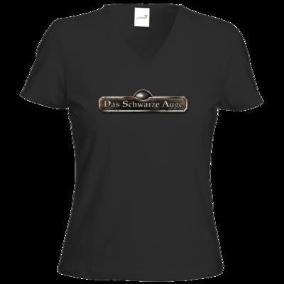 Motiv: T-Shirt Damen V-Neck Classic - Logos - Schriftzug Das Schwarze Auge