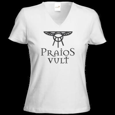 Motiv: T-Shirt Damen V-Neck Classic - Sprüche - Götter - Praios Vult