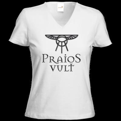 Motiv: T-Shirts Damen V-Neck FAIR WEAR - Sprüche - Götter - Praios Vult