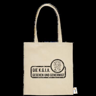 Motiv: Baumwolltasche - Sprüche - KGIA - Gesehen und genehmigt