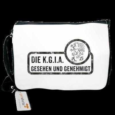Motiv: Schultertasche - Sprüche - KGIA - Gesehen und genehmigt