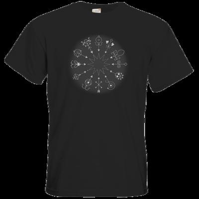 Motiv: T-Shirt Premium FAIR WEAR - Götter und Dämonen - Dämonenkreis