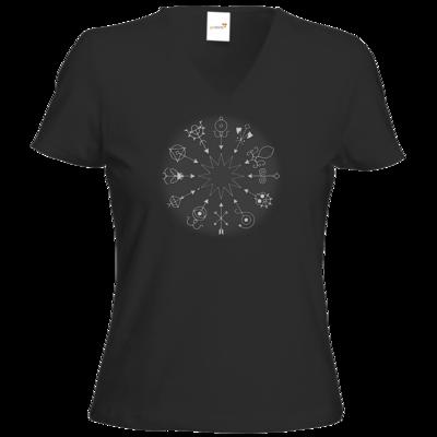 Motiv: T-Shirt Damen V-Neck Classic - Götter und Dämonen - Dämonenkreis