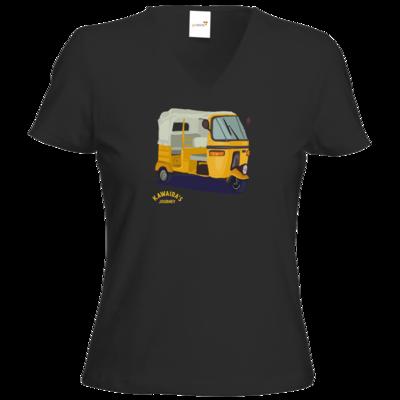 Motiv: T-Shirt Damen V-Neck Classic - Kawaida's Journey - Bajaji
