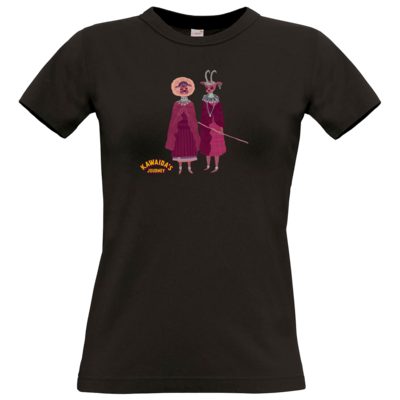 Motiv: T-Shirt Damen Premium FAIR WEAR - Kawaida's Journey - Massai